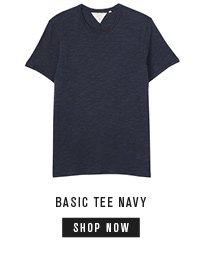 basic navy tee