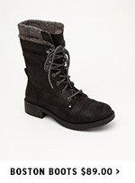 Boston Boots $89.00