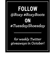 Follow Roxy on Twitter for weekly giveaways in October!