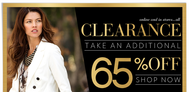 Take An EXTRA 65% OFF Clearance