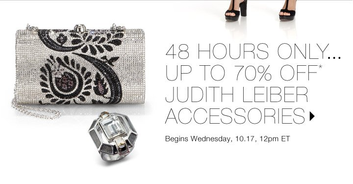 Up to 70% Off* Judith Leiber…Shop now