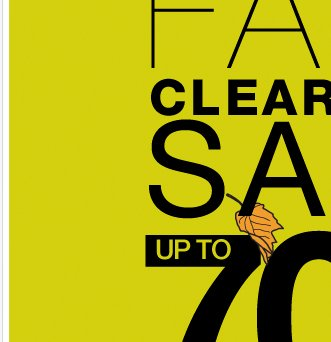 Our Fall Clearance Sale starts TOMORROW!