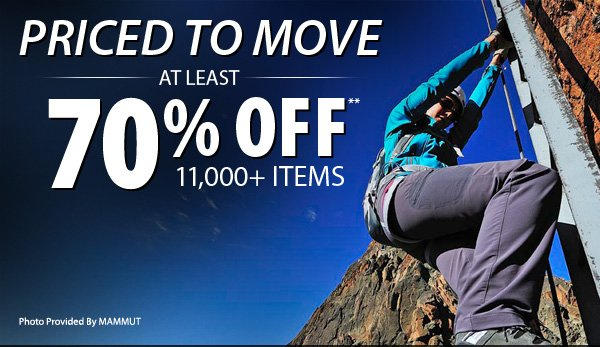 TODAY ONLY! Online Exclusive - Priced to Move - At least 70% OFF over 11,000 Items!