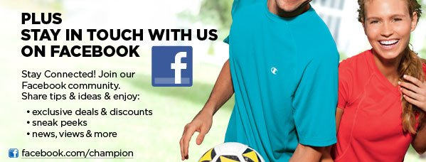 Stay in touch with us on facebook