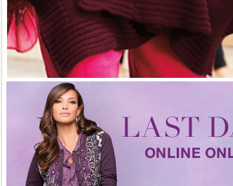 ONLINE ONLY: Last Day to Get $50 off your purchase of $100 or more!