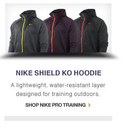 NIKE SHIELD KO HOODIE | A lightweight, water-resistant layer designed for training outdoors. | Shop Nike Pro Training