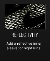 REFLECTIVITY | Add a reflective inner sleeve for night runs.
