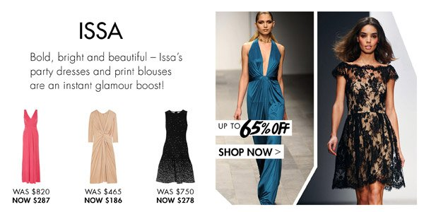 ISSA at up to 65% off >