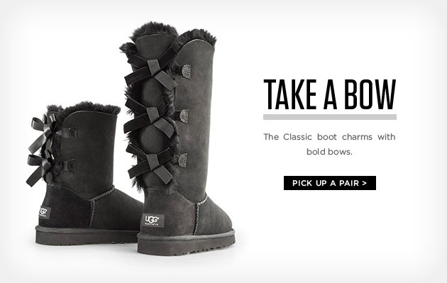 Take a bow - The classic boot charms with bold bows - Pick up a pair