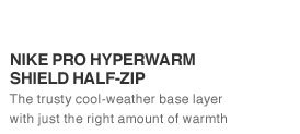 NIKE PRO HYPERWARM SHIELD HALF-ZIP | The trusty cool-weather base layer with just the right amount of warmth