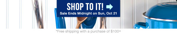 Shop To It! - Sale ends midnight on Sunday, October 21