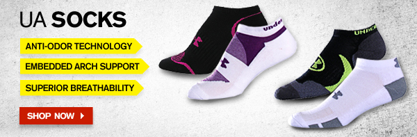 UA SOCKS. SHOP NOW.