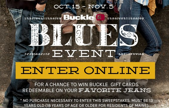 Enter the Buckle Blues Event