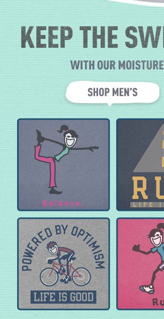 Check out the Men's Life is good Workout Gear