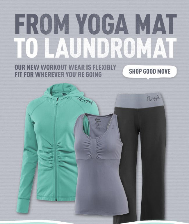 Check out the Life is good Workout Gear
