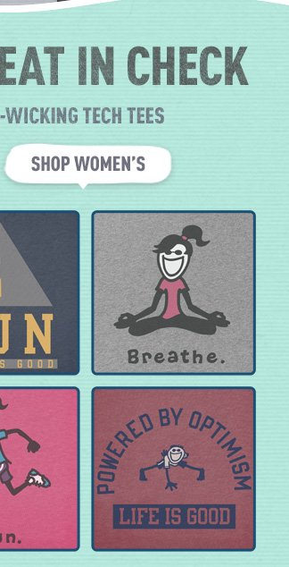 Check out the Women's Life is good Workout Gear