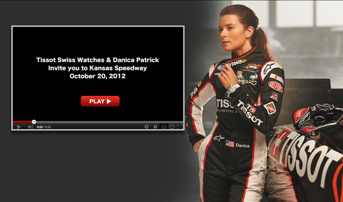 Tissot Swiss Watches & Danica Patrick video