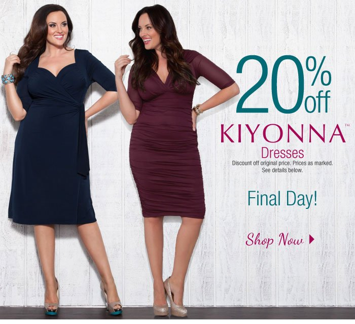 Final Day to save on Kiyonna Dresses!