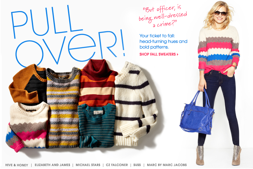 PULL OVER! SHOP FALL SWEATERS
