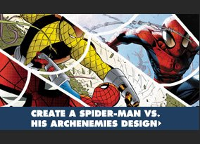 Create a Spider-Man vs. His Archenemies Design