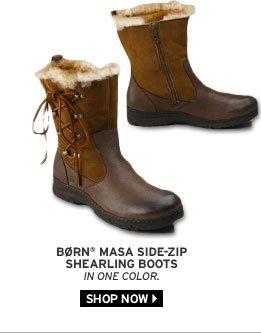Børn® Masa Side-Zip Shearling Boots