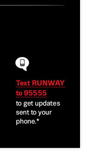 Text Runway to 95555