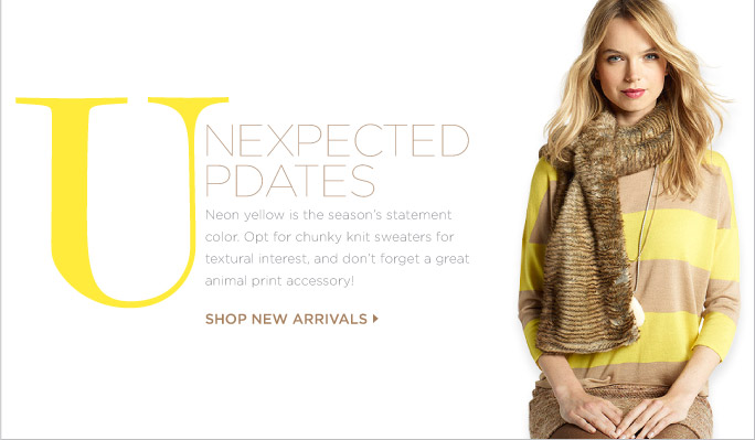 SHOP NEW ARRIVALS »