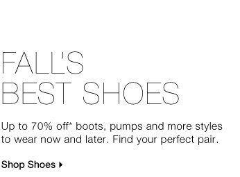Fall's Best Shoes