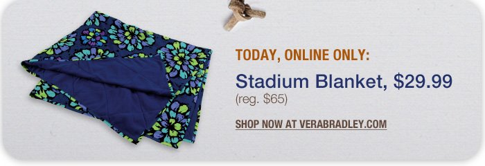 Today, Online Only: Stadium Blanket, just $29.99