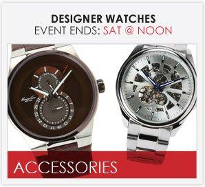 DESIGNER WATCHES - Men's & Women's