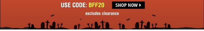 excludes clearance - SHOP NOW