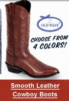 Smooth leather cowboy boot