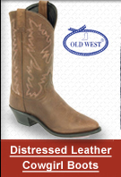 Distressed Leather Cowgirl boot