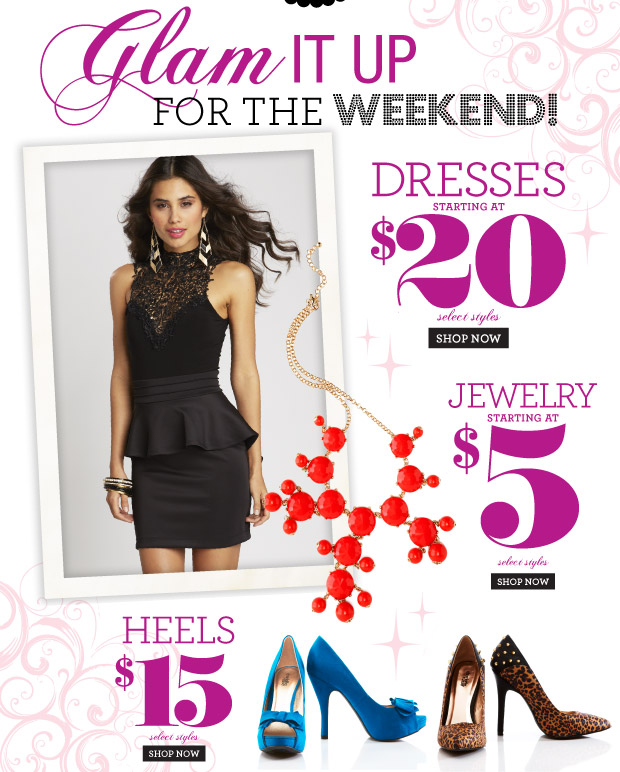 Sexy Skirt Alert! Peplum, pencil & hi-low! Oh my! Skirts starting at $10. SHOP NOW Select Styles