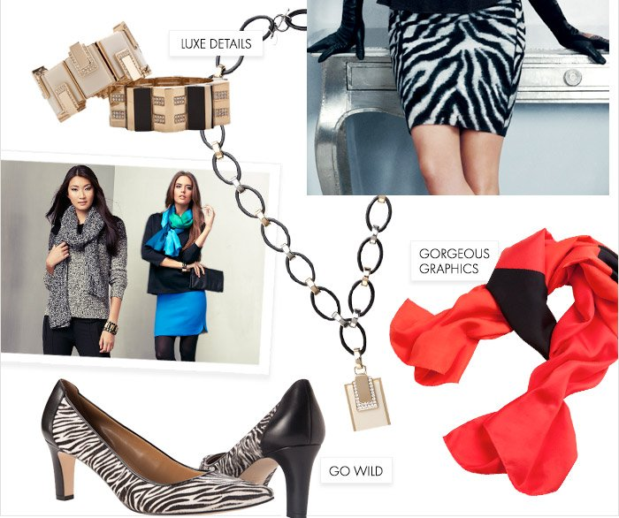 OUR NEW COLLECTION IS HERE!  Style your season with bold prints, vivid color and gorgeous accessories.