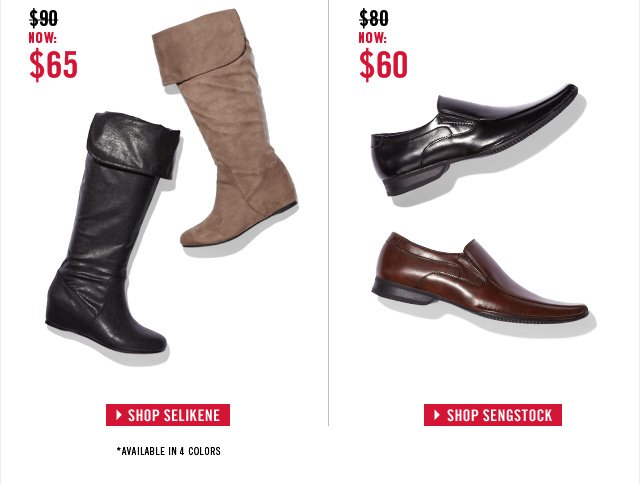 Exclusive offer: Tall Boots & Casual loafers for less!