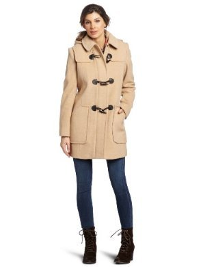 Larry Levine <br/>Camelhair Hooded Duffle Coat