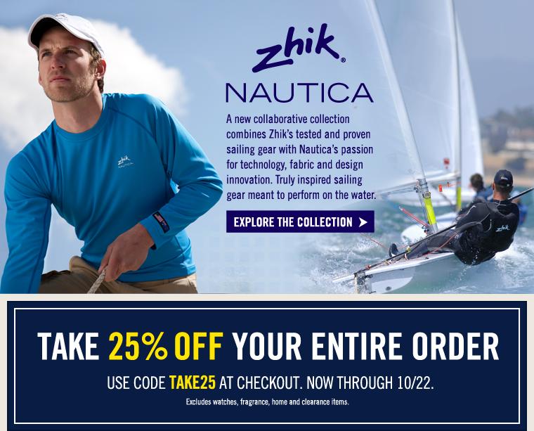 Zhik + NAUTICA, a new collaborative collection.