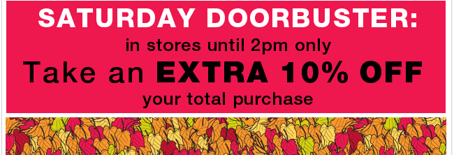 Don't miss this amazing doorbuster – today until 2pm only!