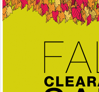 our Fall clearance sale is going on now, in stores and online. Shop NOW!
