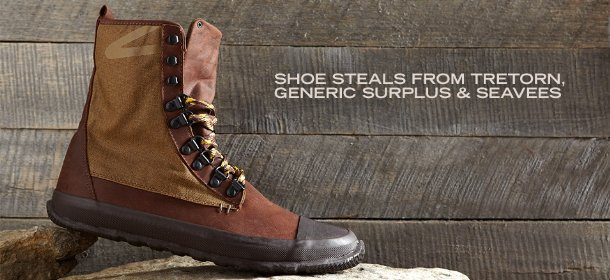 SHOE STEALS FROM TRETORN, GENERIC SURPLUS & SEAVEES, Event Ends October 24, 9:00 AM PT >