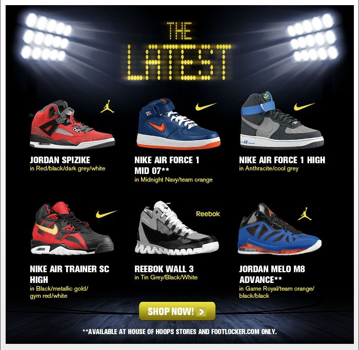 Foot Locker New Releases Jordan Spizike Air Force 1 Melo M8 Advance And More Milled