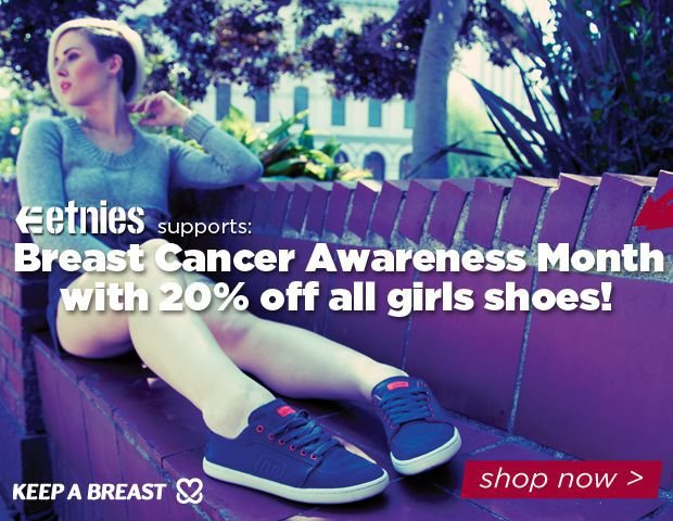 etnies supports Breast Cancer Awareness Month