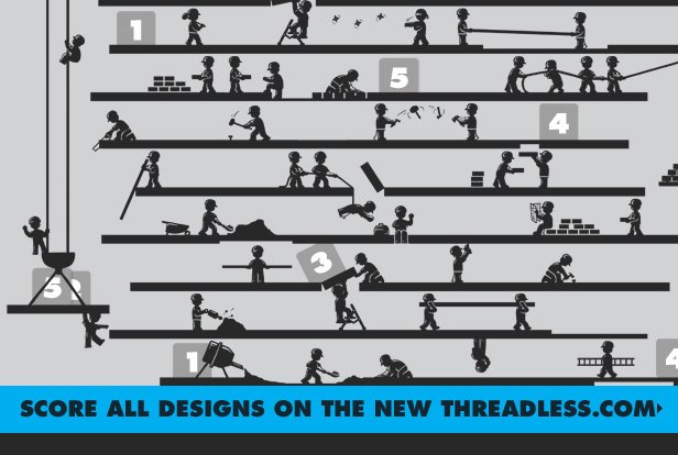 Score all designs on the new Threadless.