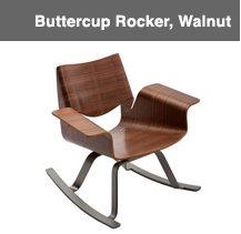Buttercup Rocker, Walnut Image