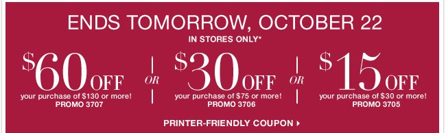 Use this coupon and save! Offer ends tomorrow.