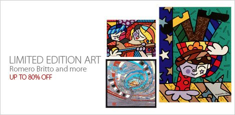 Limited Edition Art: Featuring Romero Britto and more
