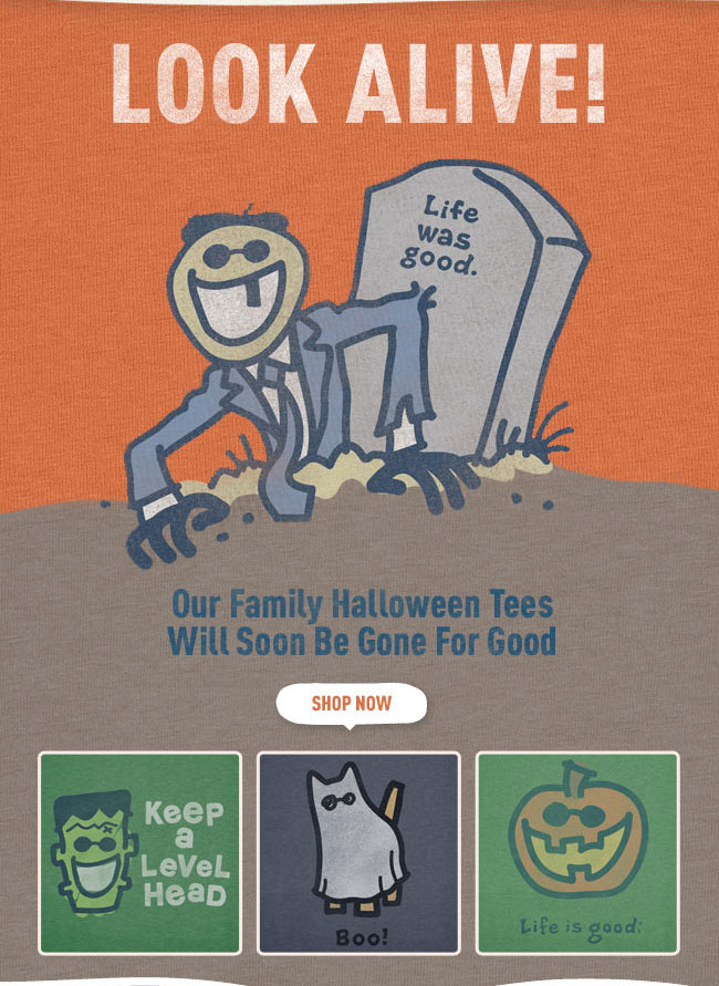 Look Alive! Our Family Halloween Tees Will Soon Be Gone For Good