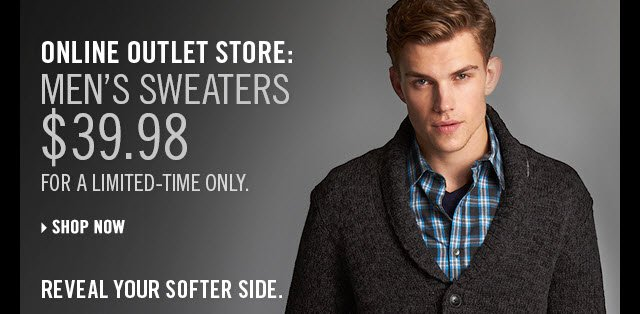 Online Outlet Store: men's sweaters $39.98
