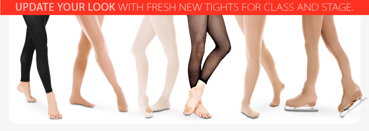 Update your look with fresh new tights for class and stage!